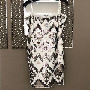 Off shoulder sequins dress: NWT!!
